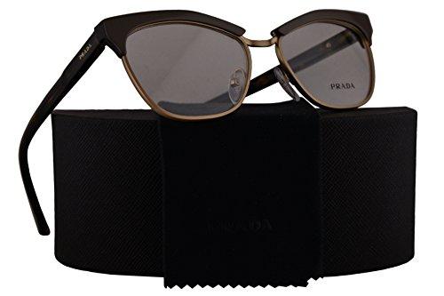 Prada Journal PR14SV Eyeglasses 53-16-140 Top Gray Havana TF