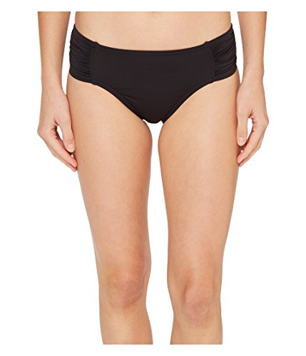Tommy Bahama Women's Pearl High-Waist Side-Shirred Bikini Bottom Black Swimsuit Bottoms
