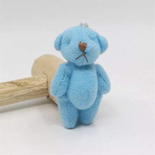 ForteGlo 3cm - 100pieces/lot 3cm Teddy Pendant Bear Cartoon Bouquet Bear Doll Plush Joints Naked Teddy Bear Doll Mini Bear Doll 1 PCs from ForteGlo