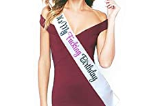 """Birthday Sash - Fashionable White Satin""""It's My F-ing Birthday"""" with Beautiful Lettering - 15th, 16th, 17th, 18th, 21st, 22nd, 25th, 30th Birthday Party - Happy Birthday Sash: Best Birthday Ideas"""