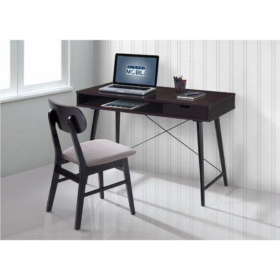 [TECHNI MOBILI Modern Desk with storage and Chair Set - Wenge/ Gray] (Mobile Computer Chair)