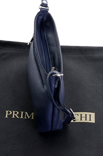 Primo Adjustable Small Navy Cross Handbag Shoulder Blue Soft Bag Sacchi Made Leather Hand Strap Italian Body R0xpr1R