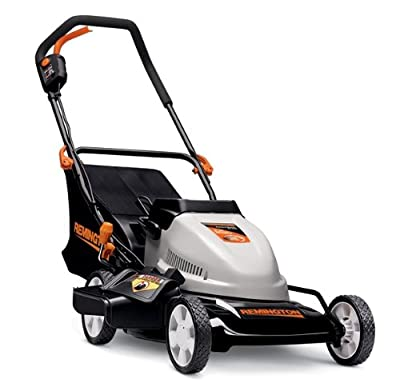 Remington RM212B 24 Volt 19-Inch Cordless Electric Side Discharge/Mulching/Bagging Lawn Mower With Single Level Height Adjust & Removable Battery