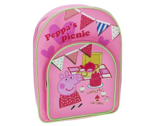 Trade Mark Collections Peppa Pig Picnic two Pocket Back Pack (Pink) B00742RL3G