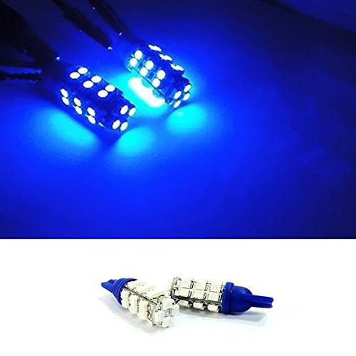 (LEDIN 2x T10 168 194 BLUE 28 SMD LED Parking Light W5W Bulb)