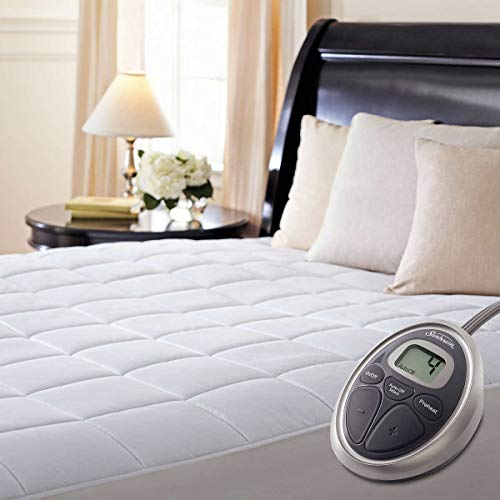 Sunbeam Luxury Quilted Electric Heated Queen Mattress Pad