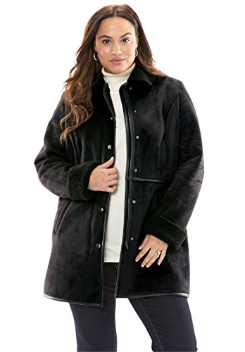 Jessica-London-Womens-Plus-Size-Faux-Shearling-Car-Coat