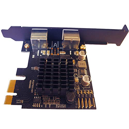 JXSZ PCI-Express to 2xPS2 PS/2 Keyboard and Mouse Port Expansion Card Without USB Ports