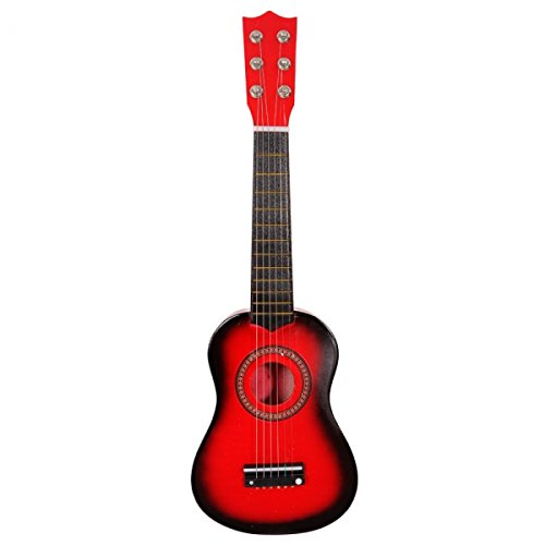21''Children's Acoustic Guitar & Pick & Strings Toy Guitar (Red) by Soogo