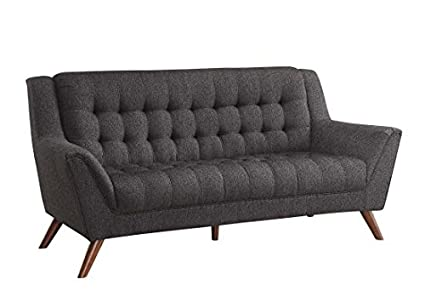 Amazon.com: Coaster Baby Natalia Tufted Sofa in Black ...