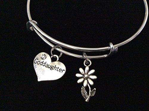 God Daughter Silver Expandable Charm Bracelet Goddaughter