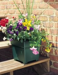 15 Inch Planter (Countryside Square Tub Planter, Hunter Green, 18-Inch)