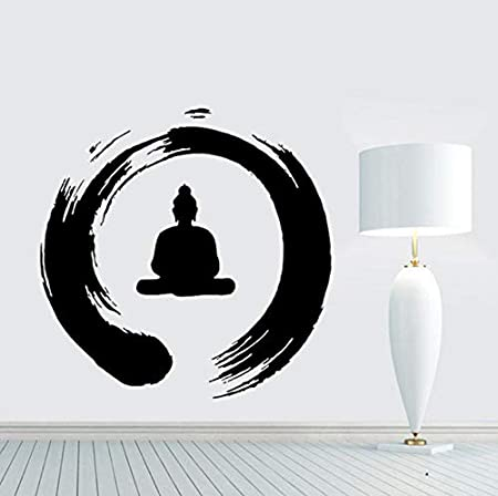 AELAHER Pegatinas De Pared Frases Zen Circle with Buddha Tatuajes ...