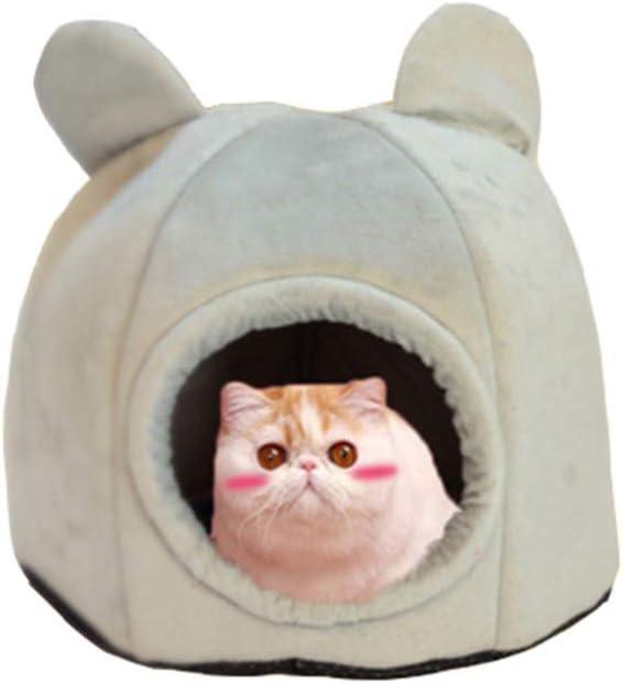 Cueva para Gatos de Sea Blong, Mejora el sueño, Fieltro Suave, Cueva para Gatos y Perros pequeños, Cama para Mascotas, Gato, Gato, Gato, Mascota, Gris, S: Amazon.es: Productos para mascotas