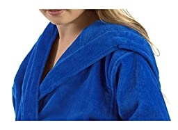 Terry Hooded kids bathrobe bathrobes Royal Blue, Xlarge