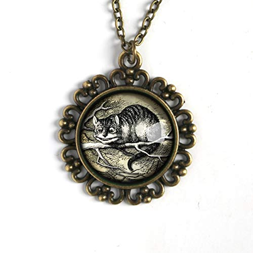 Alice in Wonderland Cheshire Cat pendant necklace (Cheshire Jewelry Cat)