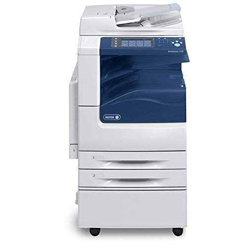 Refurbished Xerox WorkCentre 7125 Tabloid-size Color Multifunction Printer - 25 ppm, Copy, Print, Scan, Duplex, 2 Trays, Stand (Certified Refurbished) (Emulation 3 Printer Postscript)