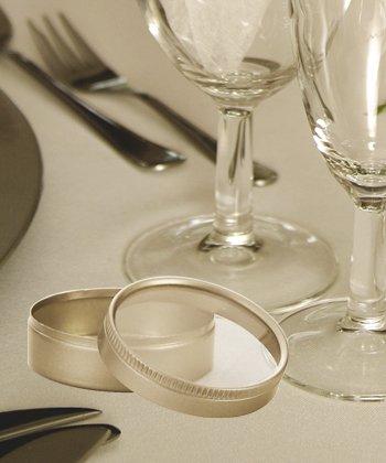 Round Silver Mint Tin Wedding Favors, 57