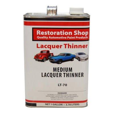 Restoration Shop Acrylic Lacquer Medium Thinner Low-Temp Topcoat Thinner Gallon
