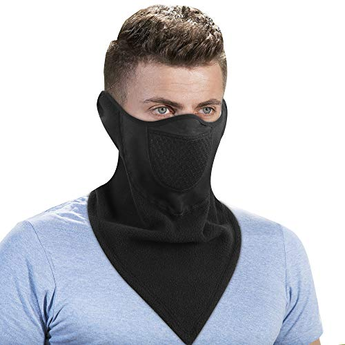 Omeneex Half Balaclava with Earloop for Stay on Adjustable Velcro Windproof for Skiing Snowboarding Motorcycling Winter Sports(HF Gaiter)