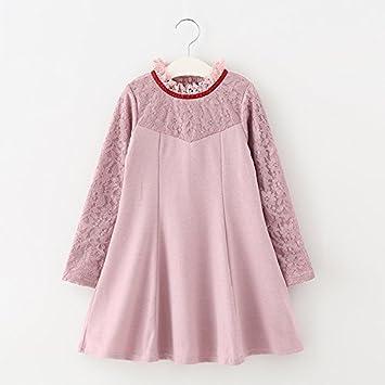 XIU*RONG Vestido Para Niños Y Niños Vestidos Faldas Rosa 110Cm