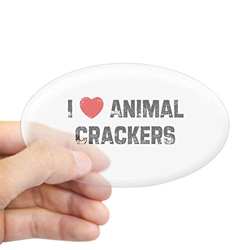 CafePress I Animal Crackers Oval Sticker Oval Bumper Sticker, Euro Oval Car Decal