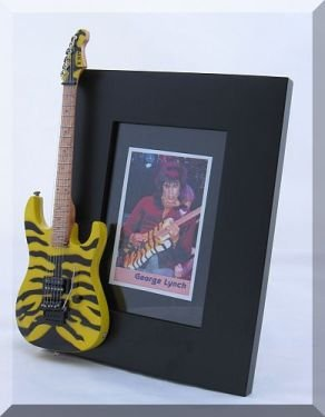 GEORGE LYNCH Miniature Guitar Photo Frame Tiger Yellow Dokken