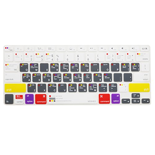 MOSISO Keyboard Cover with Pattern Compatible MacBook Pro 13 Inch, 15 Inch (with or Without Retina Display, 2015 or Older Version) MacBook Air 13 Inch, Mac OS X OSX-M-CC-2, White