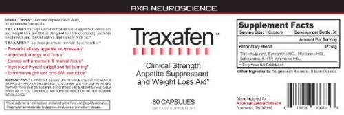 Traxafen Powerful Appetite Suppressant and Fat Burner Lose Weight Quickly 2 bott.