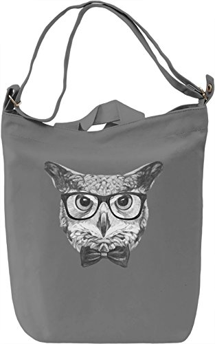 Smart owl Borsa Giornaliera Canvas Canvas Day Bag| 100% Premium Cotton Canvas| DTG Printing|