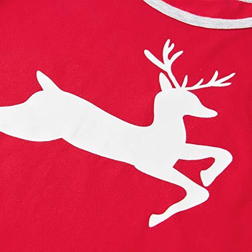 Pyjama Christmas 2 Fille Aideaone Reindeer Coton Ans Ensemble De 11 Unqxf7E4Hw