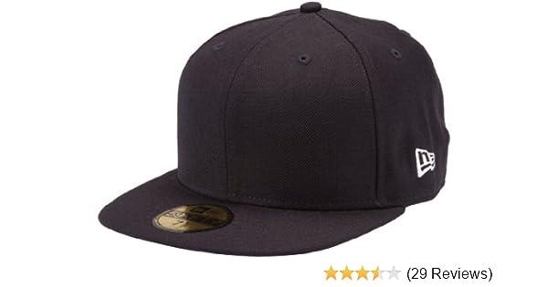 8ead51493ce8b Amazon.com   New Era Blanks 59FIFTY Fitted Original Plain Blank Cap    Sports Fan Baseball Caps   Clothing