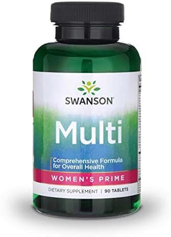 Swanson Multi Women's Prime Multivitamin Multimineral Energy Immune Hormone Balance Wellbeing Health Supplement 90 Tablets (Tabs)