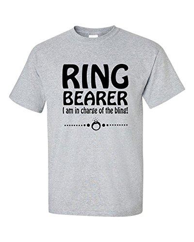 RING BEARER Short Sleeve Tee T Shirt, 100% Cotton, Organic Ink (18 months, -
