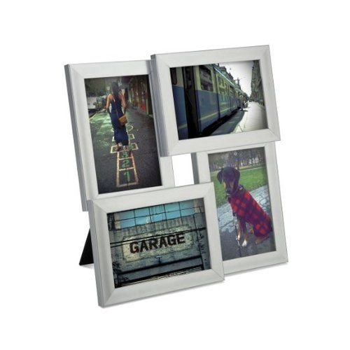 Umbra Pane, Multi 4x6 Picture Frame Collage for Desktop, Nickel