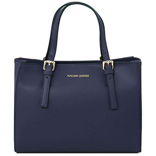 Mujer Bolso Compact Cuero De Hombro Leather Tl141434 Al Azul Para Tuscany UHx8q1wpEE