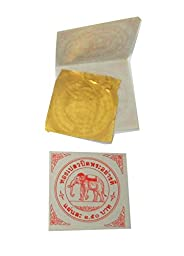 24 K Gold Leaf for Pray Buddha and for Arts ,Elephant Brand No.1 B 20 Pcs.thailand