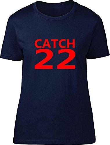 Catch 22Ladies T Shirt azul marino