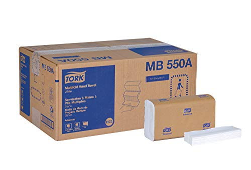 Tork Universal MB550A Multifold Paper Hand Towel, 1-Ply, 9.5