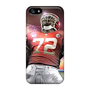 Scratch Protection Hard Phone Covers For Iphone 5/5s With Customized Lifelike Kansas City Chiefs Skin Marycase88