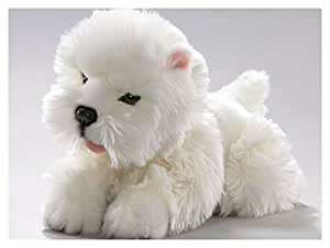 Peluche - Perro Westie, West Highland Terrier bebé (felpa, 25cm) [Juguete]