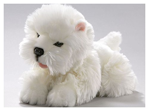 Westie, West Highland Terrier Puppy lying 10 inches, 25cm, Plush Toy, Soft Toy, Stuffed Animal West Highland Terrier Plush