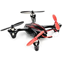 Kids RC Hexacopter 4CH 2.4GHz 6 Axis Gyro Quadcopter With 0.3MP Camera Mini Drone Aircraft Toy Red With Black