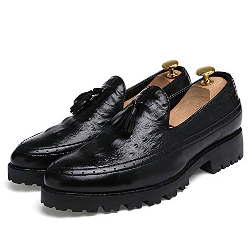 Formale Oxford End Business Casual Scarpe da Cricket Nappa Nero Uomo comode Fashion Scarpe High da Stile AwqvwdR