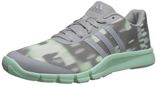 adidas Performance Women's A.T 360.2 Prima Training Shoe, Clear Onix Grey/Cleary Onix Grey/Frozen Green, 9 M US