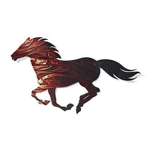 Next Innovations 3D Metal Wall Art – Running Horse Farmhouse Wall Decor – Colorful Horse Wall Art – Handmade in The USA…