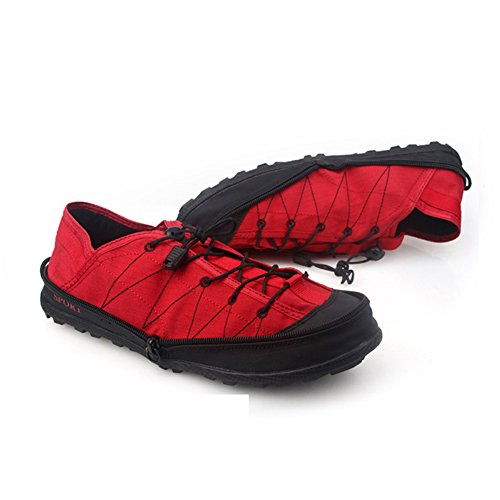 Anti Slip Women GOMNEAR Pocket Outdoor Men Red Travel Convenient Comfortable Snekers Portable Canvas Shoes Foldable FYZqa