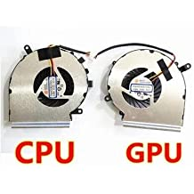 New CPU Cooling Fan Compatible for MSI GE62 GL62 GE72 GL72 GP62 GP72 PE60 PE70 Cooling GPU FAN with CPU Fan PAAD06015SL cpu fan + gpu fan Compatible Laptop Fan