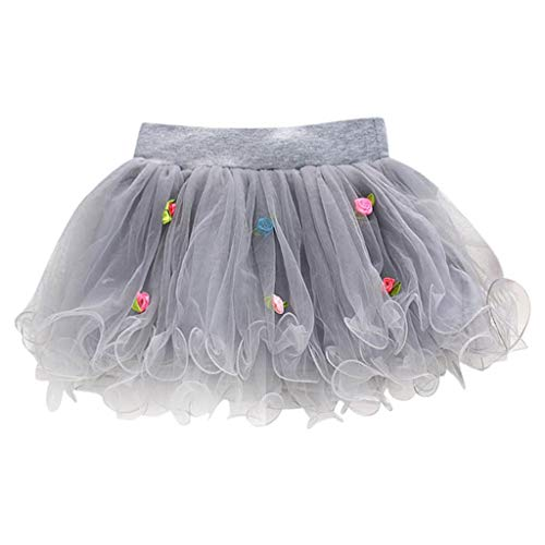 Loosebee Baby Skirts 6-24 Months, Toddler Kids Baby Summer Tutu Tulle Skirts Puffy Short Cake Skirt Ball Gown Gray