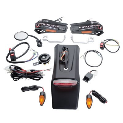 Tusk Motorcycle Enduro Lighting Kit with Handguard Turn Signals -Fits: Yamaha WR450F 2003-2009